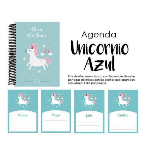 Agenda Unicornio Azul